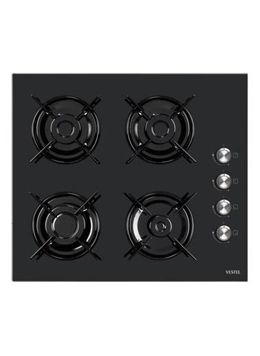 Vestel AO-6104 S Siyah Ankastre Cam Ocak Siyah